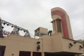 Projector Enclosure On Theme Park Roof top