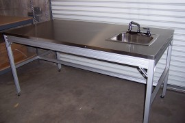 Stainless Top Table and sink