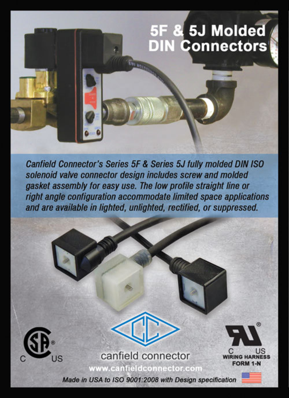 Din Solenoid Valve Connectors Now Available